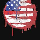 Death Star and Stripes American Flag   by thespottydogg