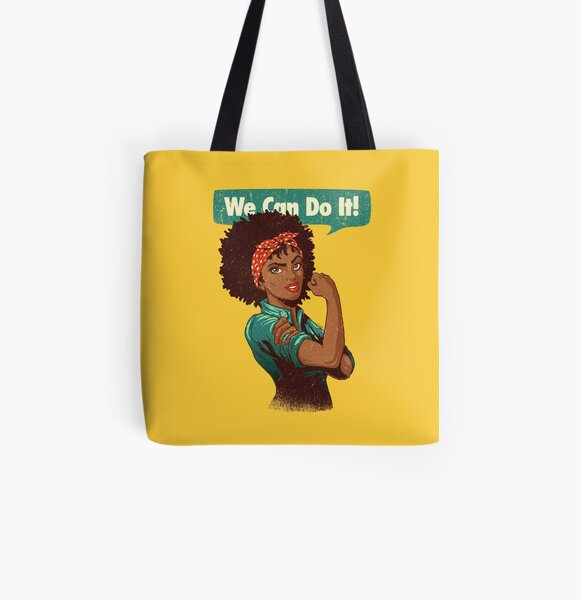 We Can Do It! Black Girl Black Queen Shirt V2 All Over Print Tote Bag