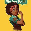Wir können es schaffen! Schwarzes Mädchen Black Queen Shirt V2 von vomaria
