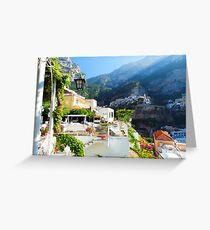 Terrace in Positano Greeting Card