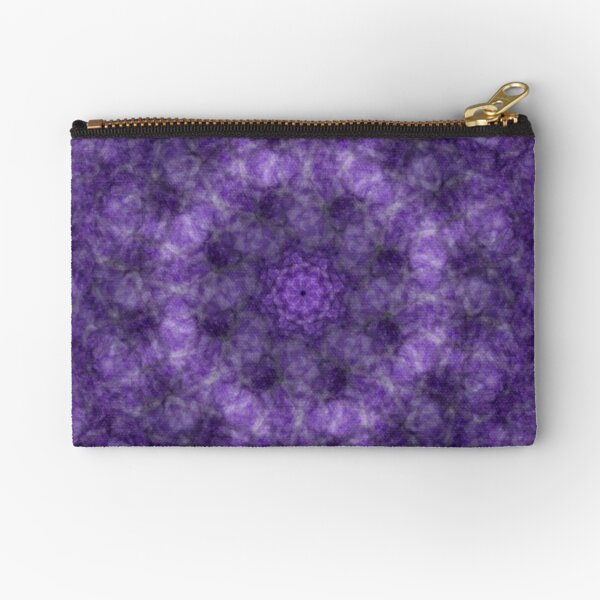 Purple Abstract  Zipper Pouch