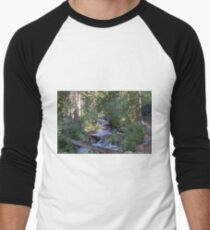 calvin and hobbes forest Men's Baseball ¾ T-Shirt