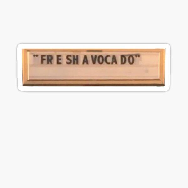 Fre Sha Vocado (Fresh Avocado) Vine Sticker