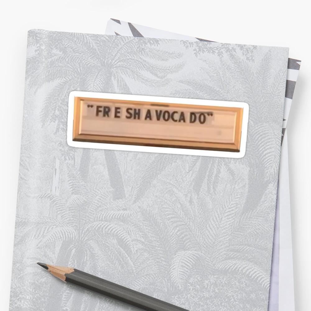 Fre Sha Vocado (Fresh Avocado) Vine Sticker by Scott Scheunemann