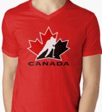 KANADA NATIONAL EIS HOCKEY TEAM T-Shirt mit V-Ausschnitt für Männer