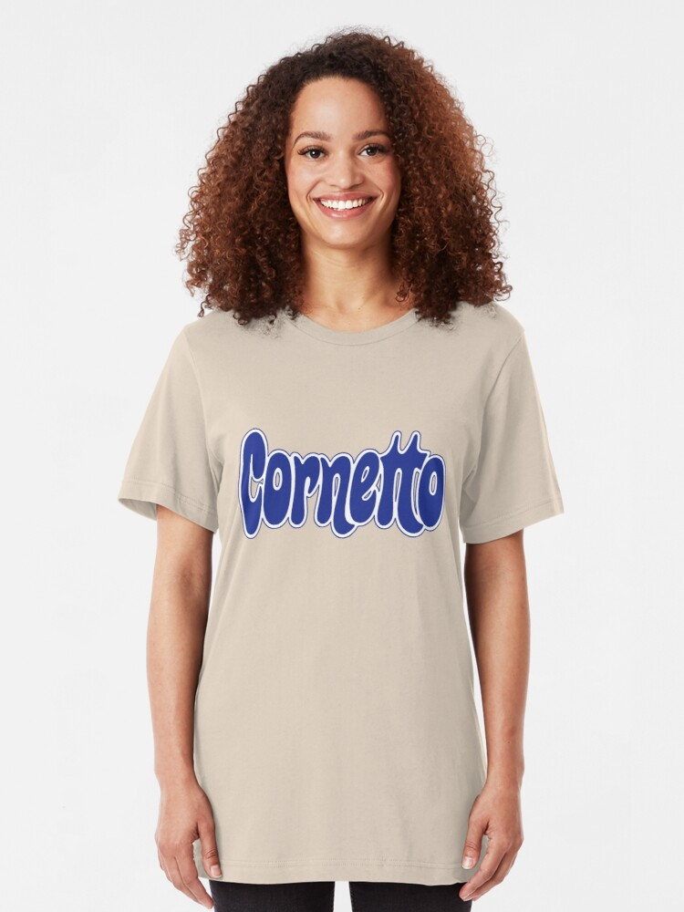 Alternate view of 1970s Cornetto logo, Wall's ice cream of Italy Slim Fit T-Shirt