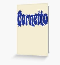 1970s Cornetto logo, Wall's ice cream of Italy Greeting Card