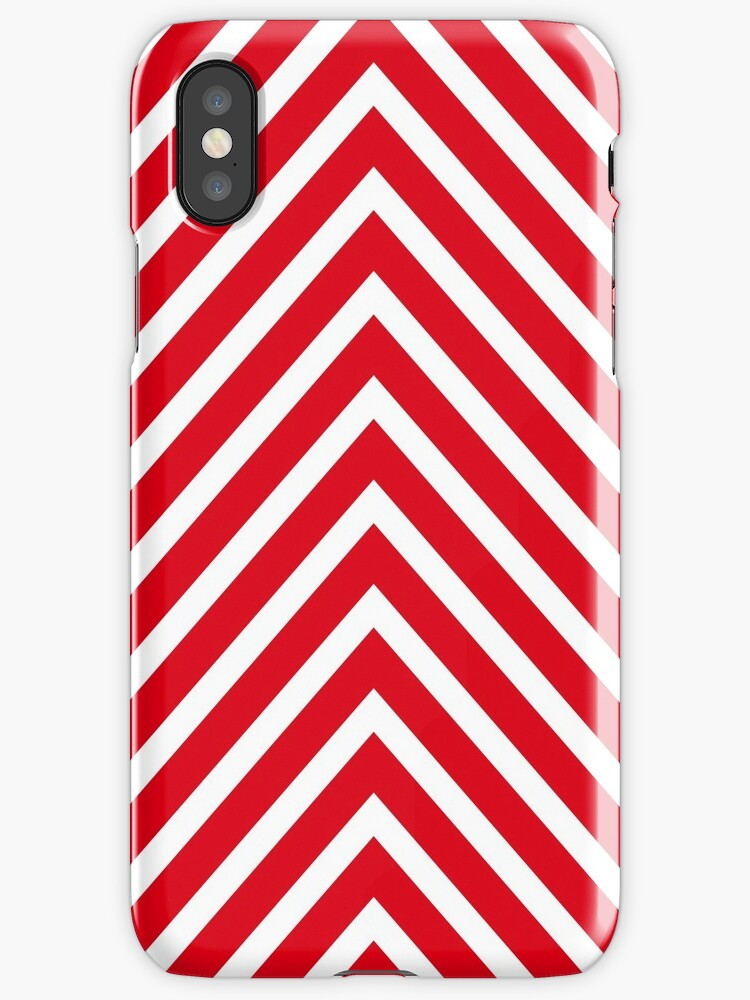 Red Chevron Pattern by MyArt23