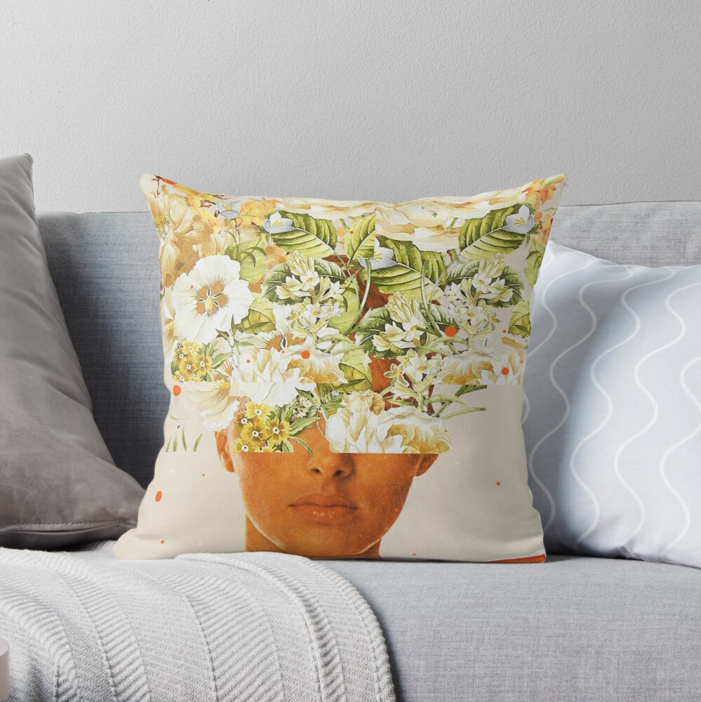 SuperFlowerHead Throw Pillow