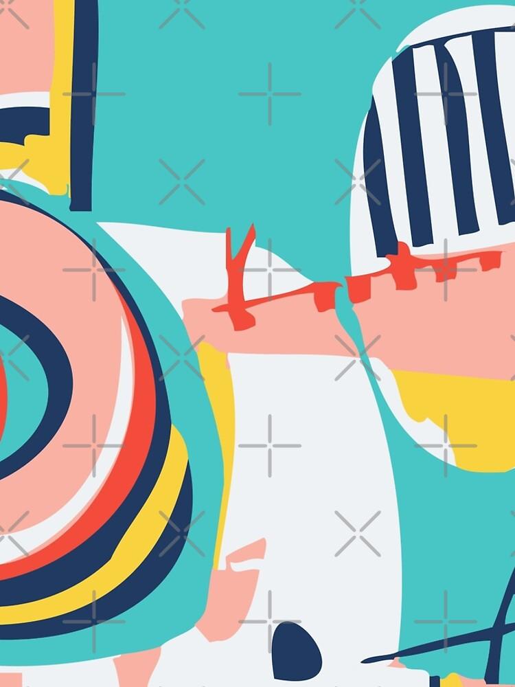Modern Minimalist Blocking Colors by MyArt23