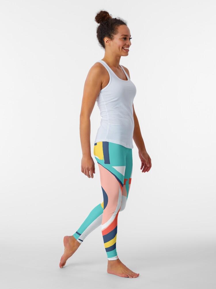 Alternate view of Modern Minimalist Blocking Colors Leggings