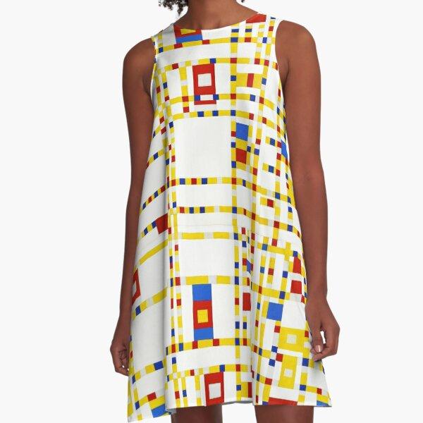 Mondrian Abstract Art  A-Line Dress