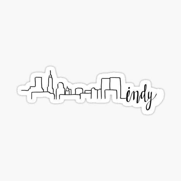 Indy skyline Sticker
