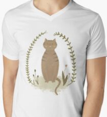 Nature Cat Men's V-Neck T-Shirt