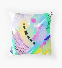 Abstract Painting in Pastel Colors Throw Pillow