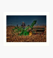 JD Corn Picker Art Print