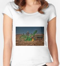 JD Corn Picker Women's Fitted Scoop T-Shirt
