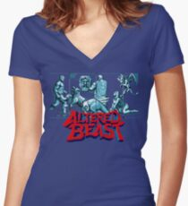 ALTERED BEAST - CLASSIC ARCADE (V1) Women's Fitted V-Neck T-Shirt