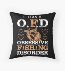 Fishing Humor, Fishing Humour, Fisher, Fisherman, Catching Fish, Bait, Lure, Salmon, Pike, Trout Throw Pillow