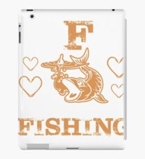 Fishing Humor, Fishing Humour, Fisher, Fisherman, Catching Fish, Bait, Lure, Salmon, Pike, Trout iPad Case/Skin