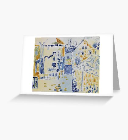 Monotype After Kandinsky Greeting Card