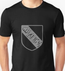 A Complete Guide to Heraldry - Figure 11 — Device of Abu Abdallah, Mohammed ibn Naçr, King of Granada, said to be the builder of the Alhambra (1231-1272) Unisex T-Shirt