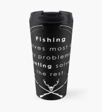 Hunting & Fishing, Fathers Day Fishing, Fishing flag, American Fishing, American Fisherman, Camper Travel Mug