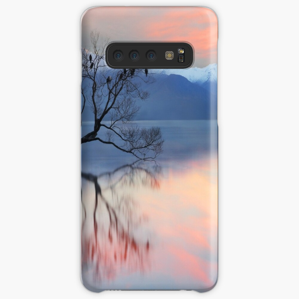 Pink Sky at Lake Wanaka Case & Skin for Samsung Galaxy