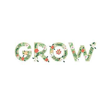 """""""Crecer"""" diciendo en letras florales de jashirts"""