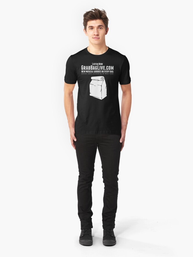 Alternate view of Grab Bag Live Radio Station  Slim Fit T-Shirt