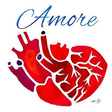 Anatomical Heart Amore by SurlyAmy