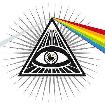 illuminati prisma eye pyramid all seeing eye conspiracy secret sign symbol by originalstar