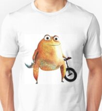 Cool Unicycling Yellow/Orange Frog  Unisex T-Shirt