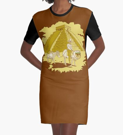 El Burrito Original (The Original Burrito) Graphic T-Shirt Dress
