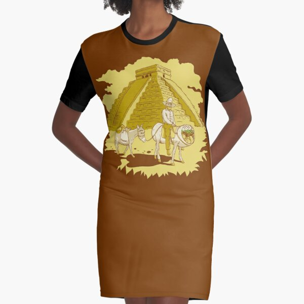 El Burrito Original (The Original Burrito) Graphic T-Shirt Dress