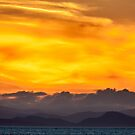 Sunset Over Vancouver Island by Jim Stiles