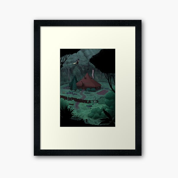 Little Witch House Framed Art Print