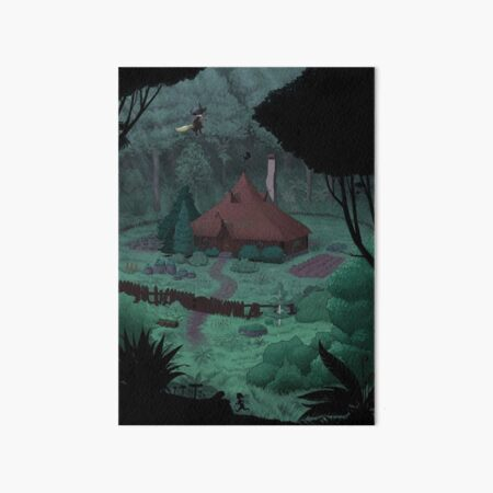Little Witch House Art Board Print