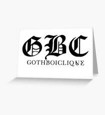 Goth boy Clique GBC Greeting Card