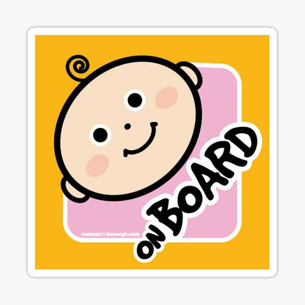 Baby on Board . Pink for Girls Sticker