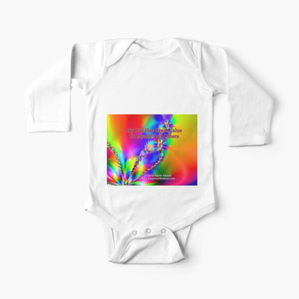 My Life Has Great Value To Myself An Others Long Sleeve Baby One-Piece