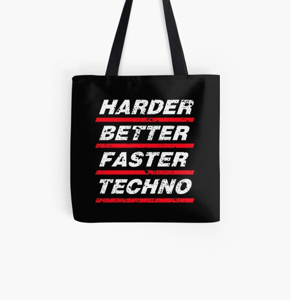 Harder Better Faster Techno #1 Allover-Print Tote Bag