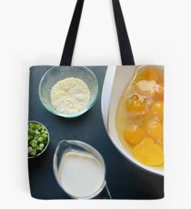 Quiche Ingredients Tote Bag