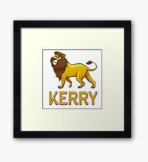 Kerry Lion Drawstring Bags Framed Print