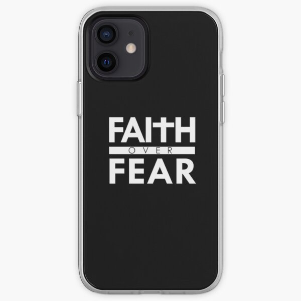 Faith Over Fear Bible Scripture Verse Christian Quote iPhone Soft Case