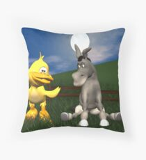 eggbert and the donkey Throw Pillow