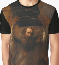 Moses With The Ten Commandments  Graphic T-Shirt