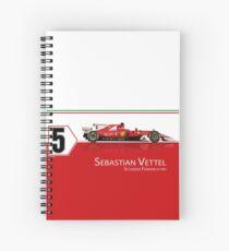 Vettel - SF70H Spiral Notebook