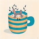 «Petit lapin - turquesa» de carosurreal