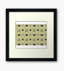 bee crown Framed Print